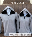 Baju couple hoodie abu