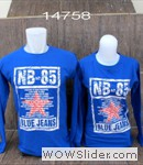 baju couple blue jeans biru