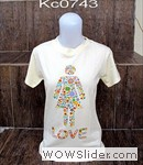 kaos cewe  love cream