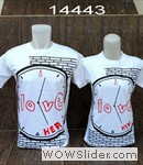 kaos couple love jam(putih)
